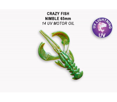 "Crazy Fish Nimble 2.5"" 44-65-14-6"