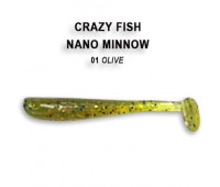 "Crazy Fish Nano Minnow 1.6"" 6-40-1-6"