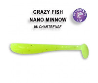 "Crazy Fish Nano Minnow 1.6"" 6-40-6-6"