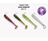 "Crazy Fish Nano Minnow 1.6"" 6-40-M47-6"