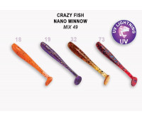 "Crazy Fish Nano Minnow 1.6"" 6-40-M49-6"